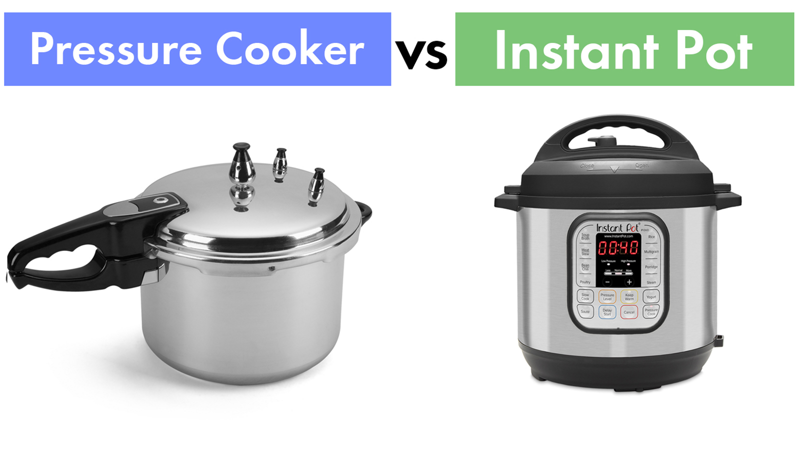 Instant pot vs. Pressure cooker