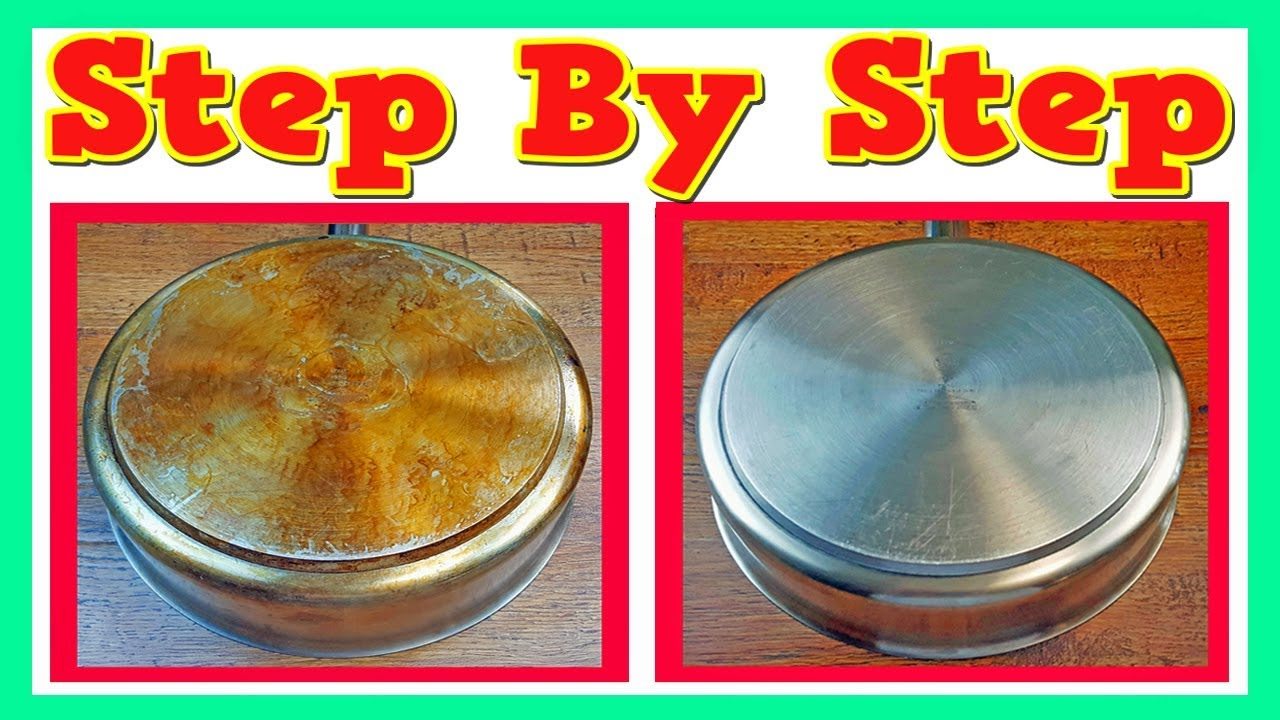 How to clean stainless steel pans using vinegar