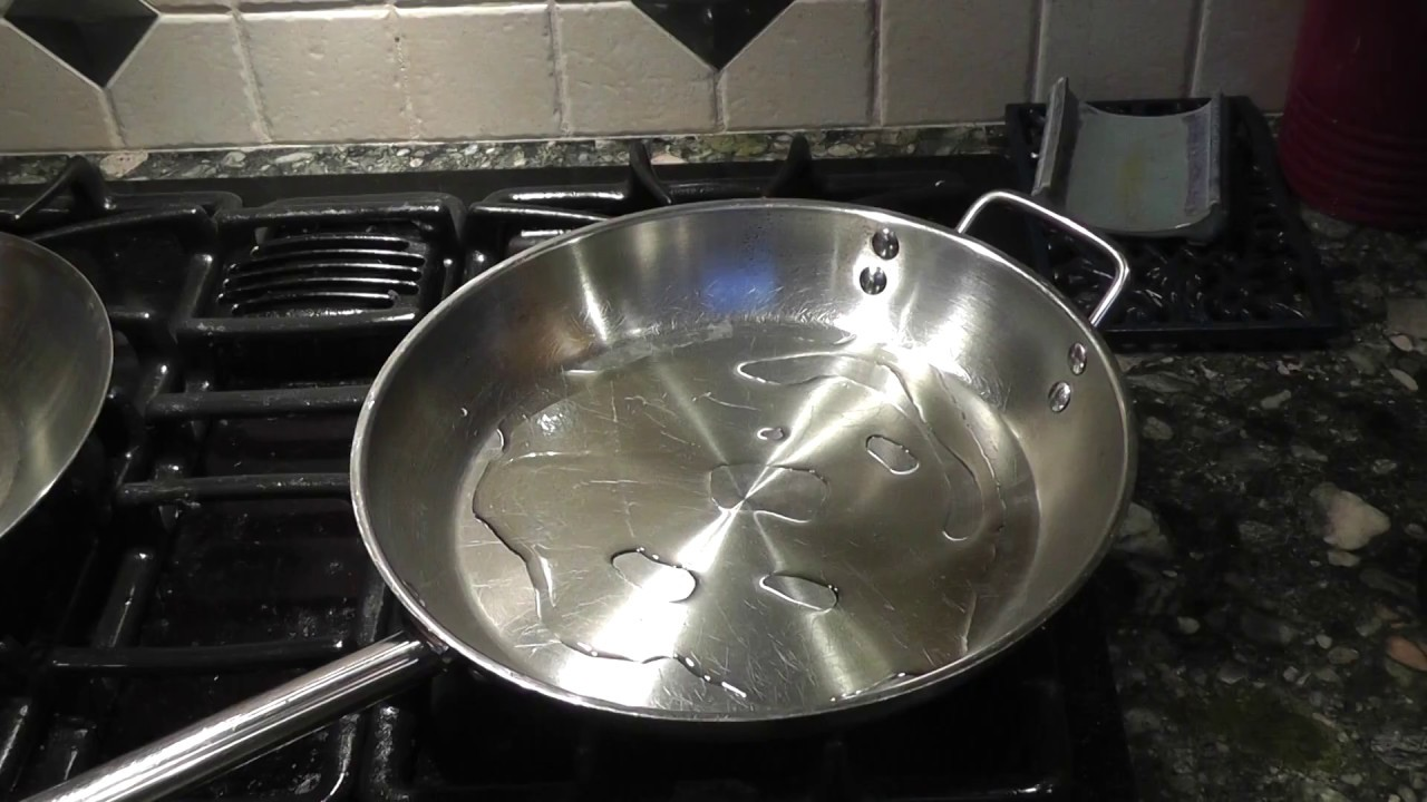 Seasoning Stainless Steel Pan
