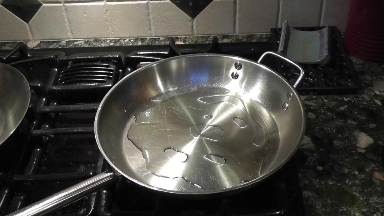 Seasoning Stainless Steel Pan