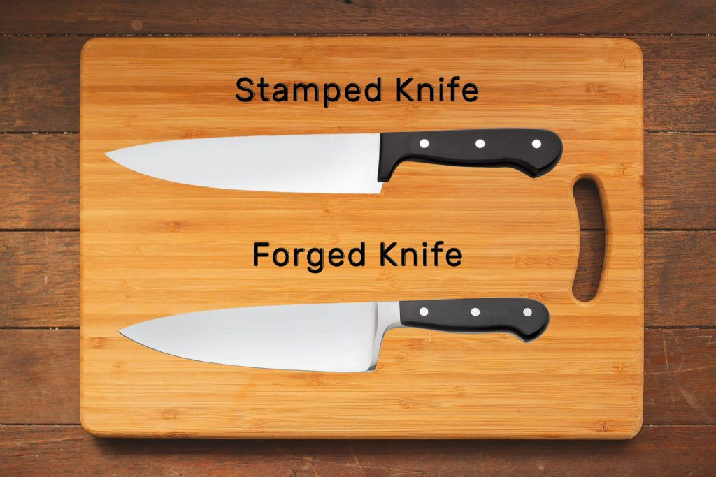 What is the difference between forged and stamped knives?