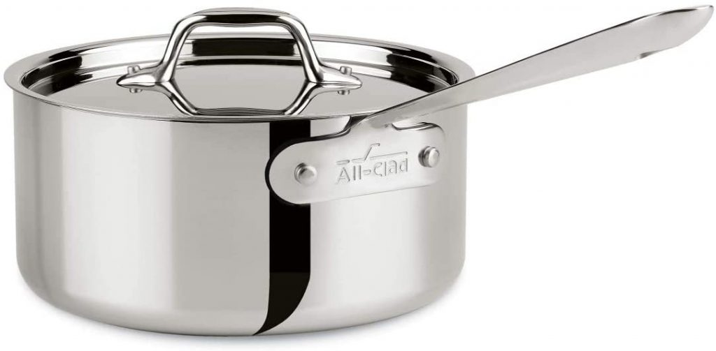All-Clad 4203 Sauce Pan with Lid, 3-Quart, Silver