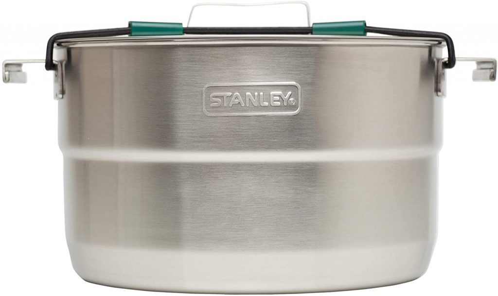 Stanley Base Camp Cook Set for 4   21 Pcs Nesting Cookware Made from Stainless Steel & BPA Free Material   Incl Pot, lid, Cutting Board, Spatula, Plates