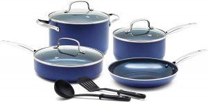 Blue Diamond Cookware Ceramic Nonstick Cookware Pots and Pans Set, 9 Piece