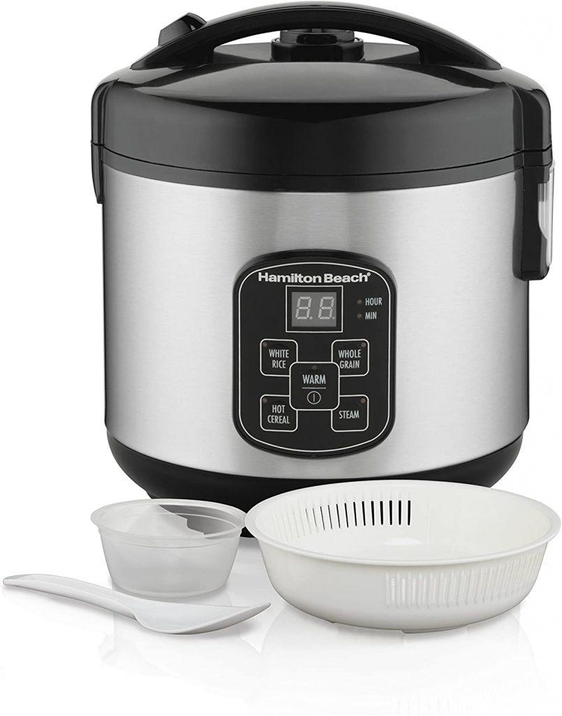 Hamilton Beach Digital Programmable Rice Cooker & Food Steamer