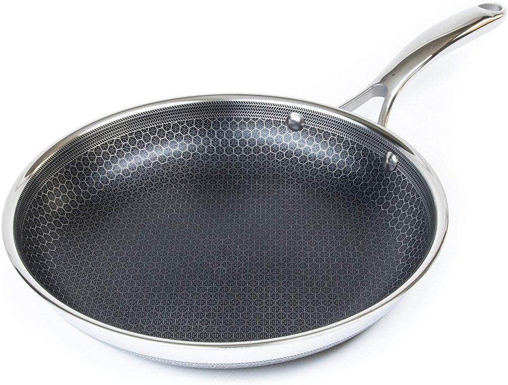 """HexClad Hybrid Nonstick Cookware 12"""" Frying Pan"""