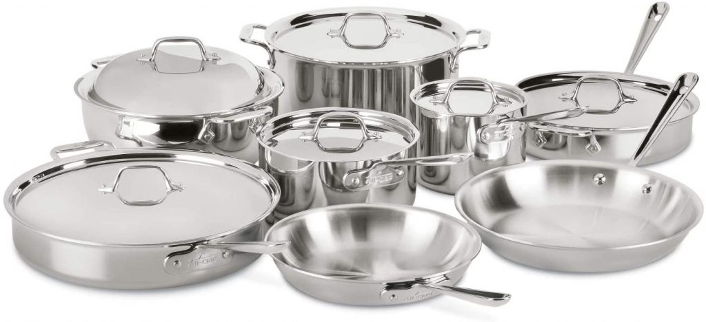 All-Clad D3 Stainless Steel Cookware Set