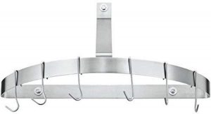 Cuisinart Chef's Classic Half-Circle Wall-Mount Pot Rack, Brushed Stainless