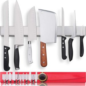 HMmagnets Premium 17 Inch Stainless Steel Magnetic Knife Holder