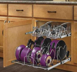 creative ways to organize pots and pans